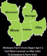 Midwest Farm Visits Begin April 1