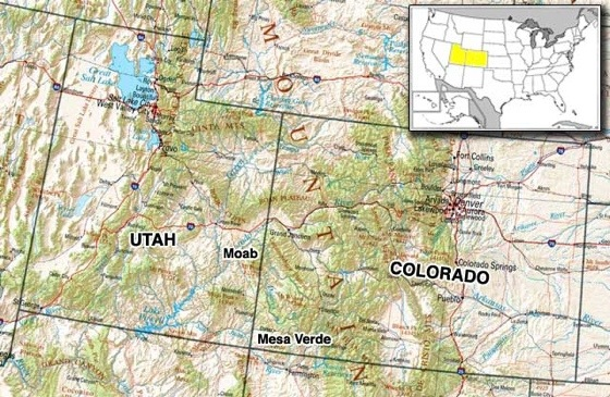 Road Map Of Utah And Colorado Clinic