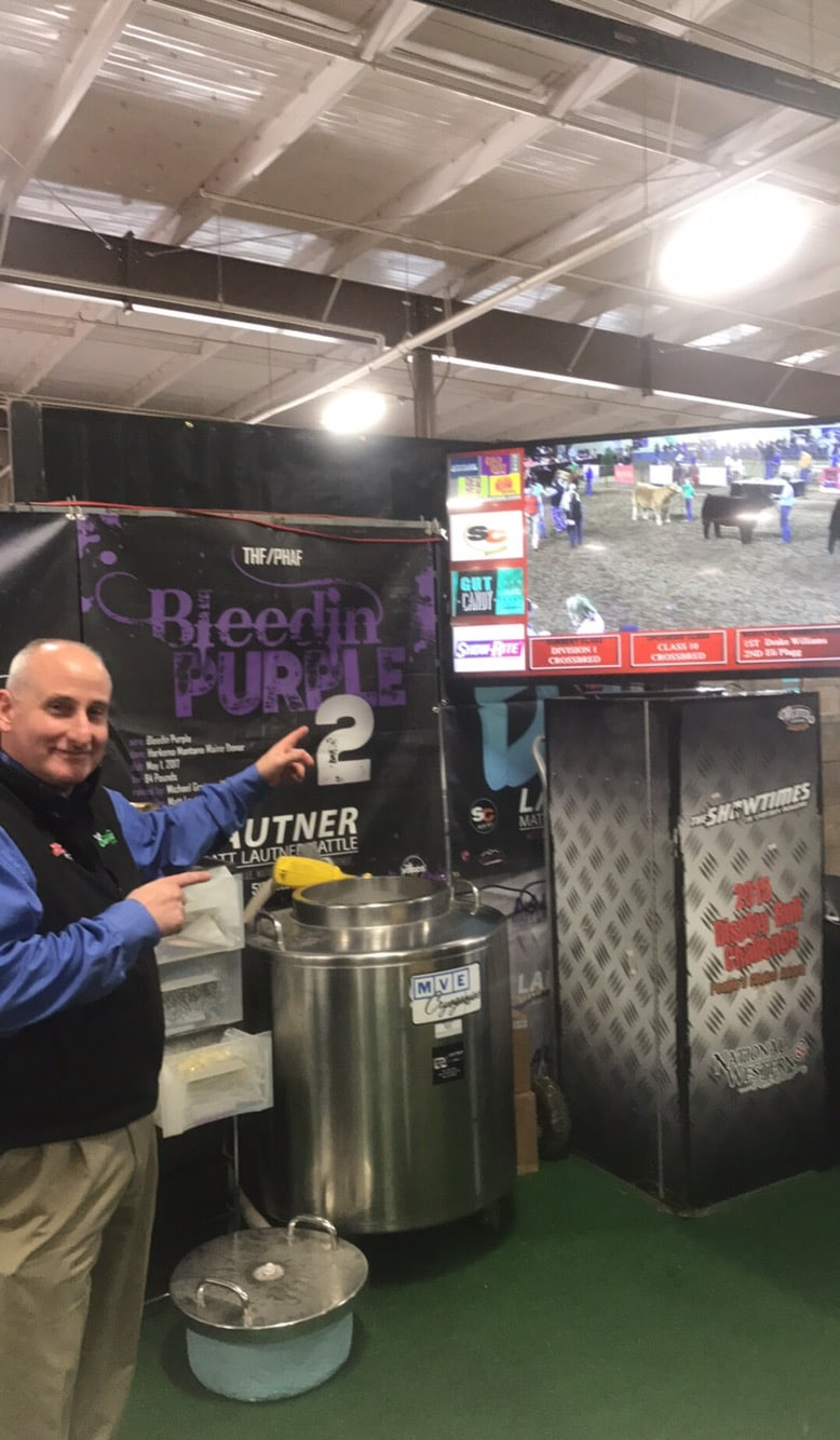 Walton webcasting on the big screen at matt lautner cattle booth dave guyer as the voice of john madden on commentary thisisheaven junglespirit Choice Image